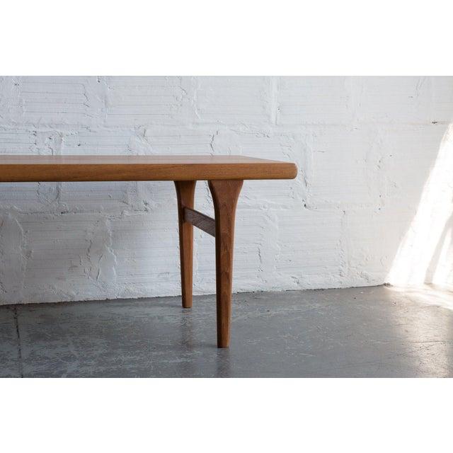 Johannes Andersen Style Teak Coffee Table For Sale - Image 4 of 5