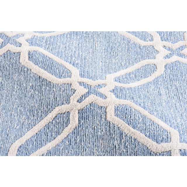 Stark Studio Rugs Stark Studio Rugs Contemporary Linen Soumak Rug - 6′ × 8′10″ For Sale - Image 4 of 5