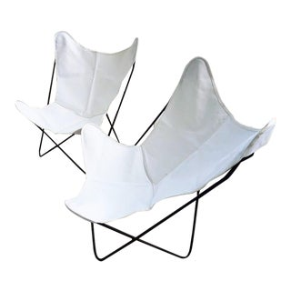 Bkf Hardoy Butterfly Chairs - a Pair For Sale