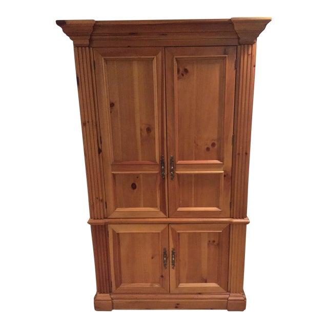 Solid Oak Armoire Desk - Image 1 of 4