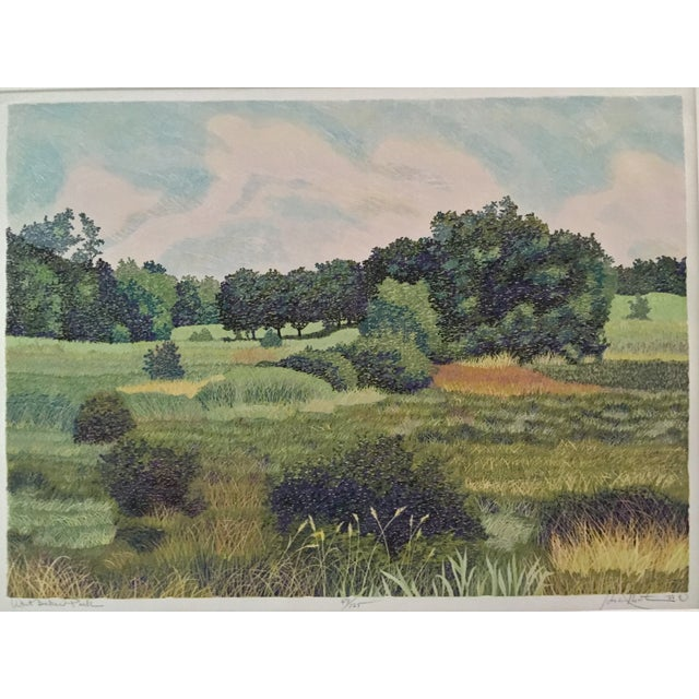 Printmaking Materials West Baker Park Color Woodcut by Mortensen For Sale - Image 7 of 7