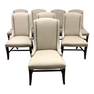 Bernhardt Custom Upholstered Dining Chairs - Set of 8 For Sale