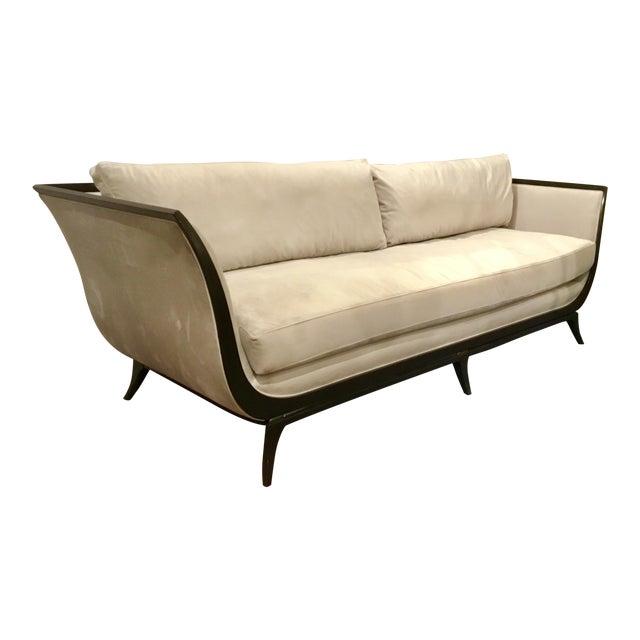 Caracole Modern Love A-Flair Velvet Sofa For Sale
