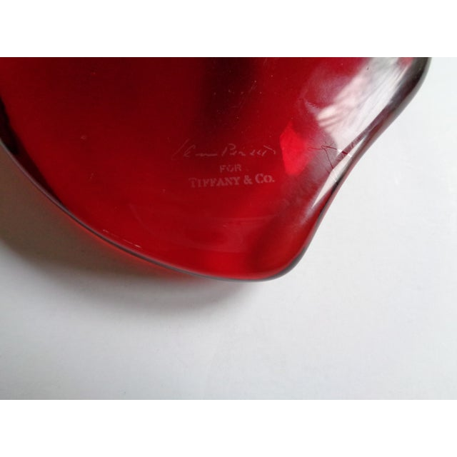 551b0efadc1 Contemporary Vintage Tiffany   Co. Elsa Peretti Red Crystal Heart Paper  Weight For Sale -