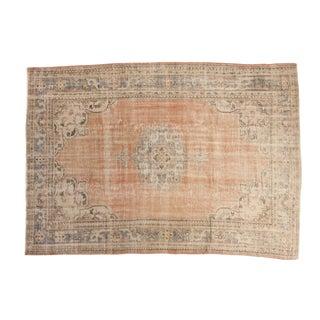 "Vintage Distressed Oushak Carpet - 6'10"" X 9'5"""
