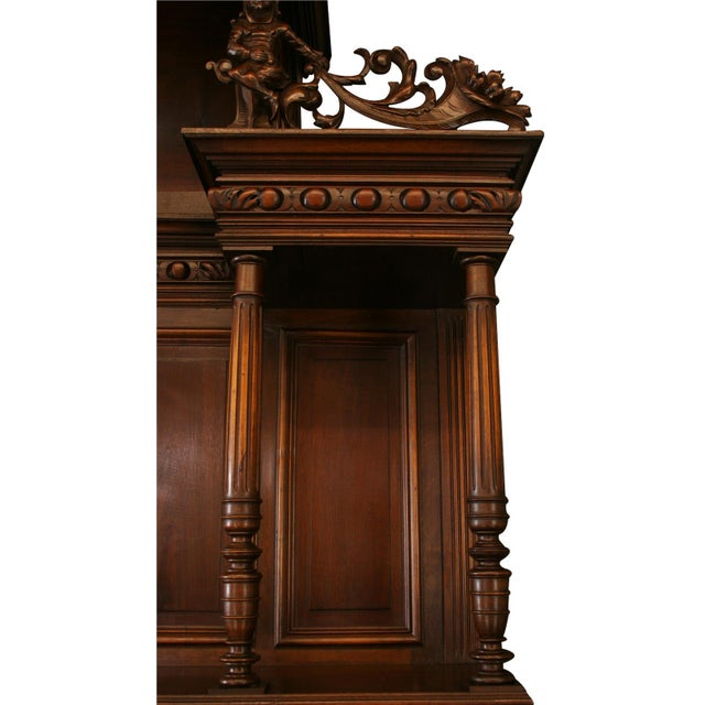 Wood Antique French Renaissance Style Buffet For Sale - Image 7 of 8
