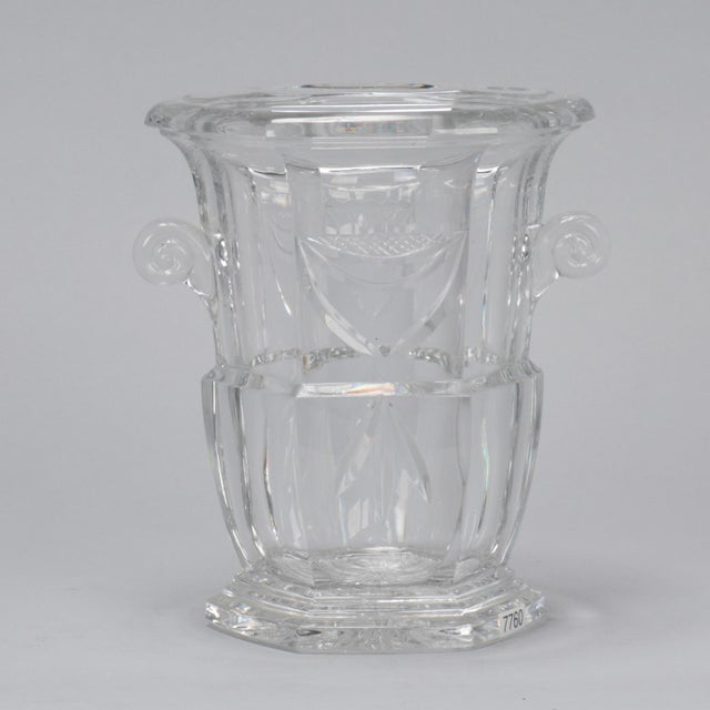 Large Early 20th Century French Crystal Ice Bucket For Sale - Image 4 of 8