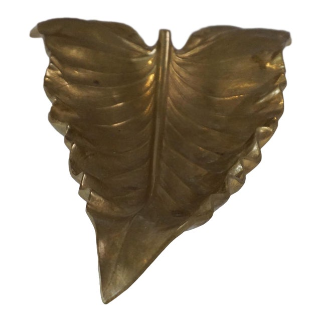 Va Metalcrafters Brass Calla Lilly Leaf Sculpture For Sale