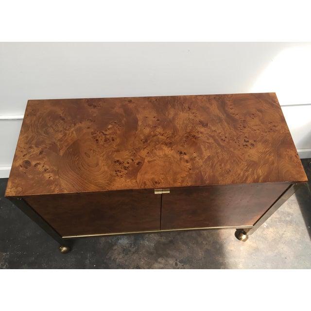 Tomlinson Burl Wood Bar Cart For Sale - Image 9 of 13