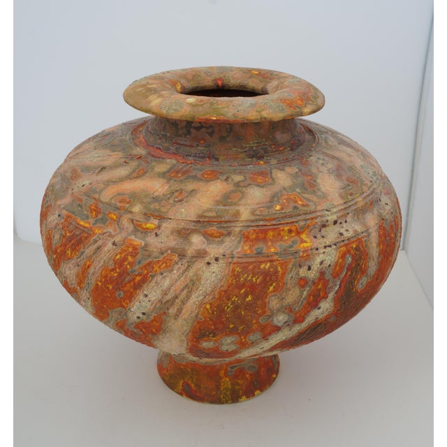 Vintage Peter Andersson Australia Glazed Earthenware Artisan Pot or Vase With Papers For Sale - Image 11 of 11