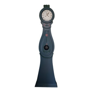 Swedish Blue Mora Clock For Sale