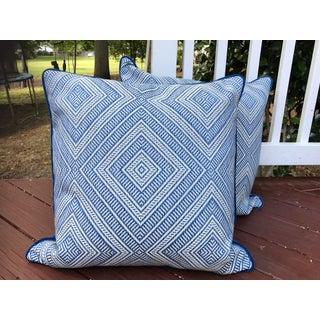 Schumacher Tortola Marine Pillows - A Pair Preview