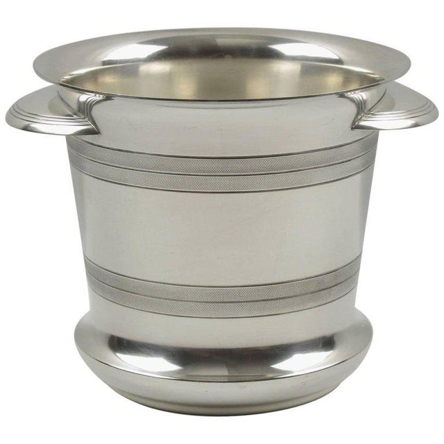 French Art Deco Modernist Silver Plate Champagne Bucket, Wine Cooler - Image 7 of 7