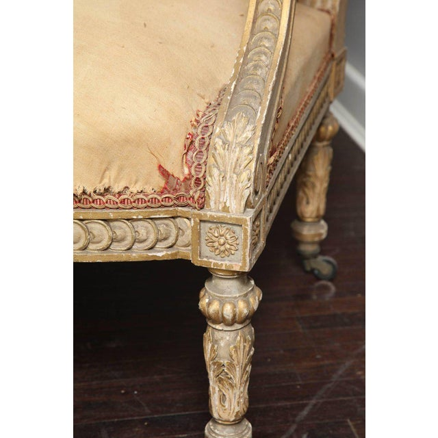 Pair of 19th Century, Louis XVI Settees For Sale In New York - Image 6 of 12