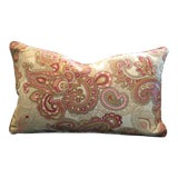 Image of Paisley Tapestry Lumbar Pillow For Sale