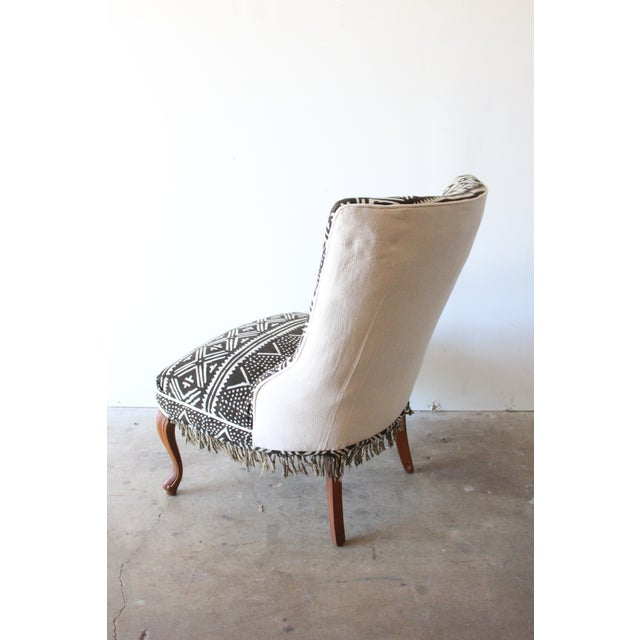 Vintage African Mudcloth Chairs - A Pair - Image 5 of 9
