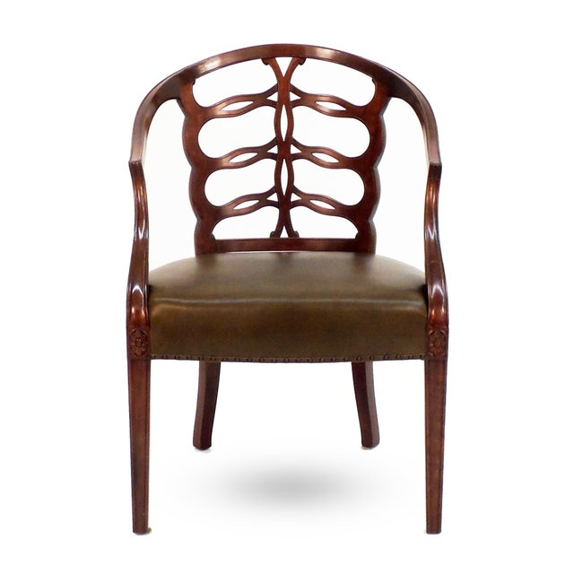 Not Yet Made - Made To Order Carved Open Back Chair For Sale - Image 5 of 5