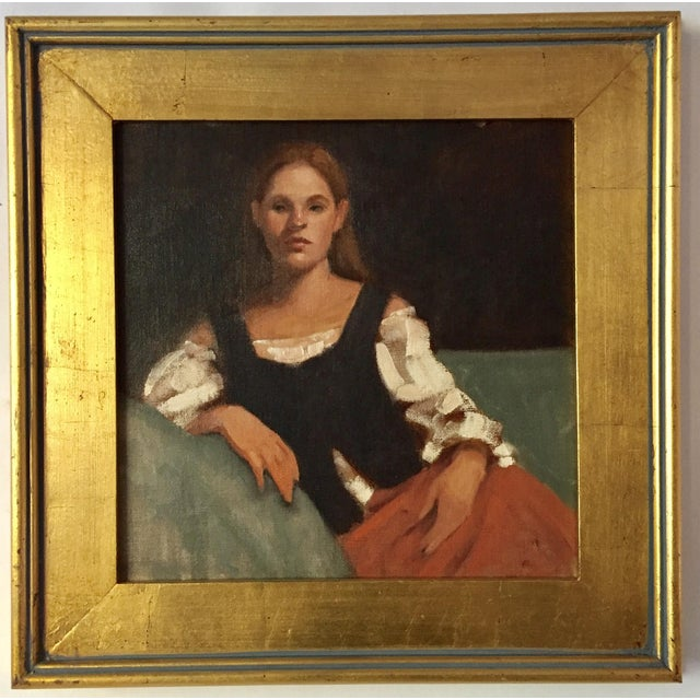 Portrait of a Young Woman Oil Painting - Image 2 of 5