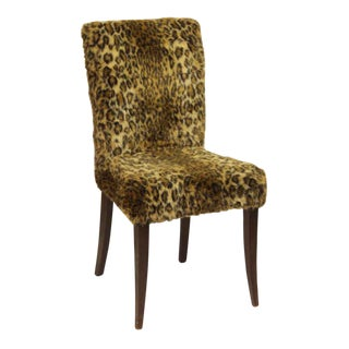 Fuzzy Leopard Side / Dining Chair For Sale
