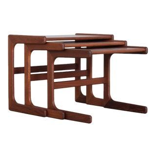1970s Danish Modern Nesting Tables - Set of 3 For Sale