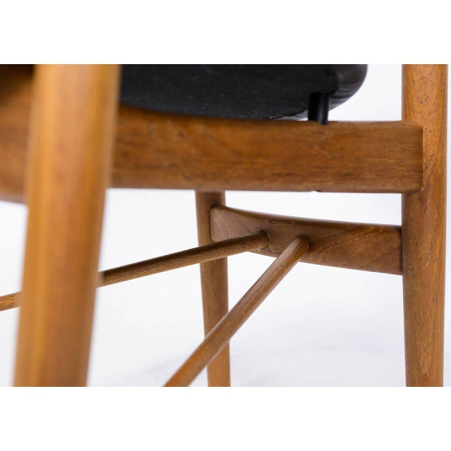 Wood Set of Six Finn Juhl NV 55 Dining Chairs For Sale - Image 7 of 10