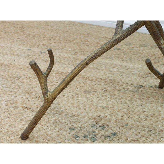 1980s Faux Bois Branch Form Cocktail Table For Sale - Image 5 of 8