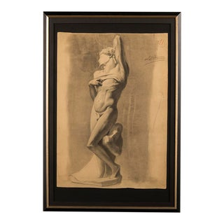19th century drawing from a Royal Academy class, France c 1880 For Sale