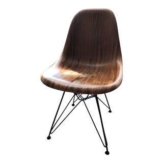 1980s Vintage Charles and Ray Eames for Herman Miller® Wood Wire-Base Side Chair For Sale