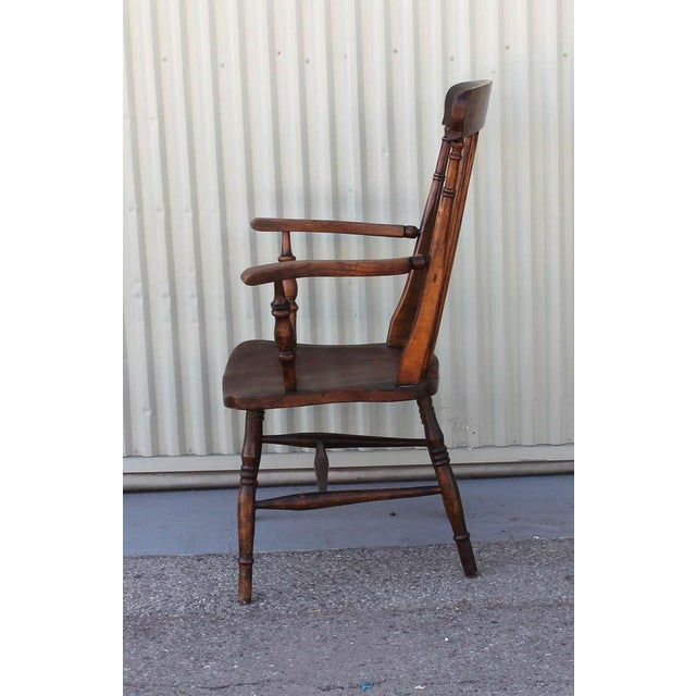 19thc English High Back Arm Chair For Sale In Los Angeles - Image 6 of 8