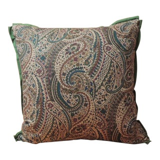 Vintage Cotton Printed Paisley Decorative Pillow For Sale