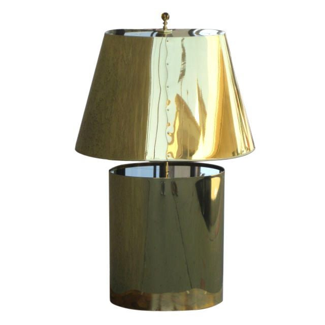 Mid-Century Modern Curtis Jere Style Brass Table Lamp For Sale - Image 3 of 6