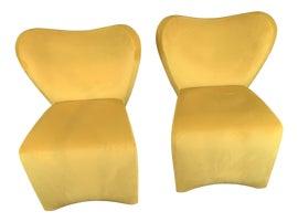 Image of Velvet Side Chairs