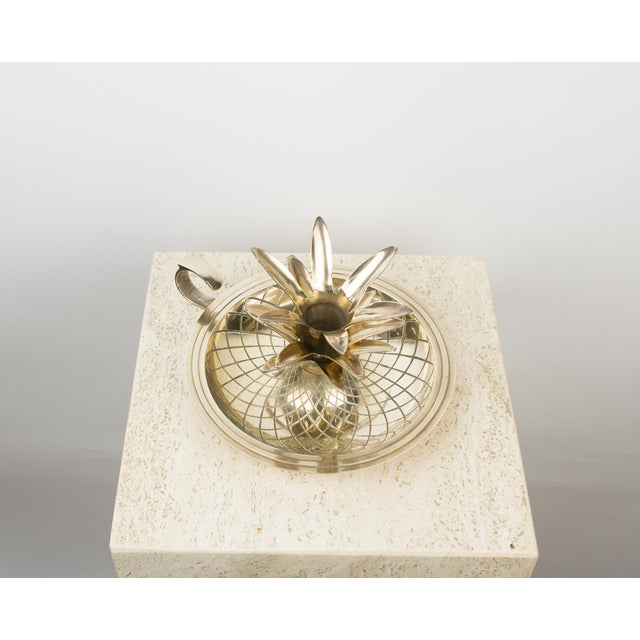 1960s Brass Pineapple Candlestick Lamp Holder For Sale - Image 5 of 10