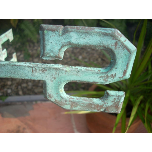 Late 19th Century Antique Horn Blowing Angel Weathervane For Sale In Naples, FL - Image 6 of 11