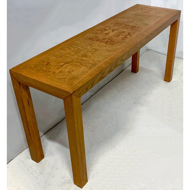 Modern 1970s Lane Burlwood Console Table For Sale - Image 3 of 5