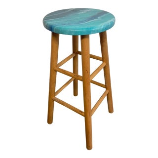 Modern Resin Seascape Barstool For Sale