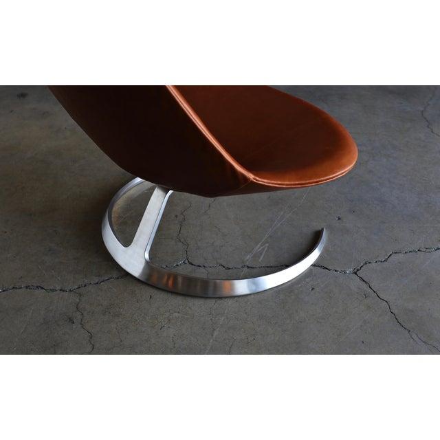 1960s Preben Fabricius & Jørgen Kastholm Scimitar Chairs by Ivan Schlecter Circa 1965 For Sale - Image 5 of 11