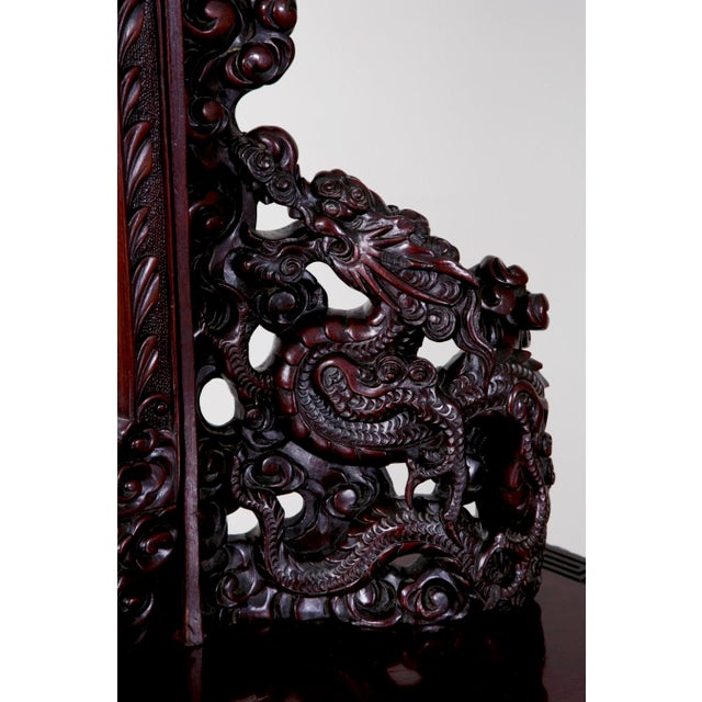 Brown Mid 19th Century Japanese Carved Chest & Mirror For Sale - Image 8 of 8