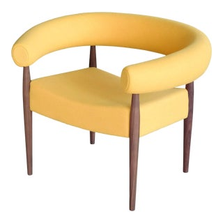 Nanna Ditzel Ring Chair in Walnut and Wool for Getama For Sale