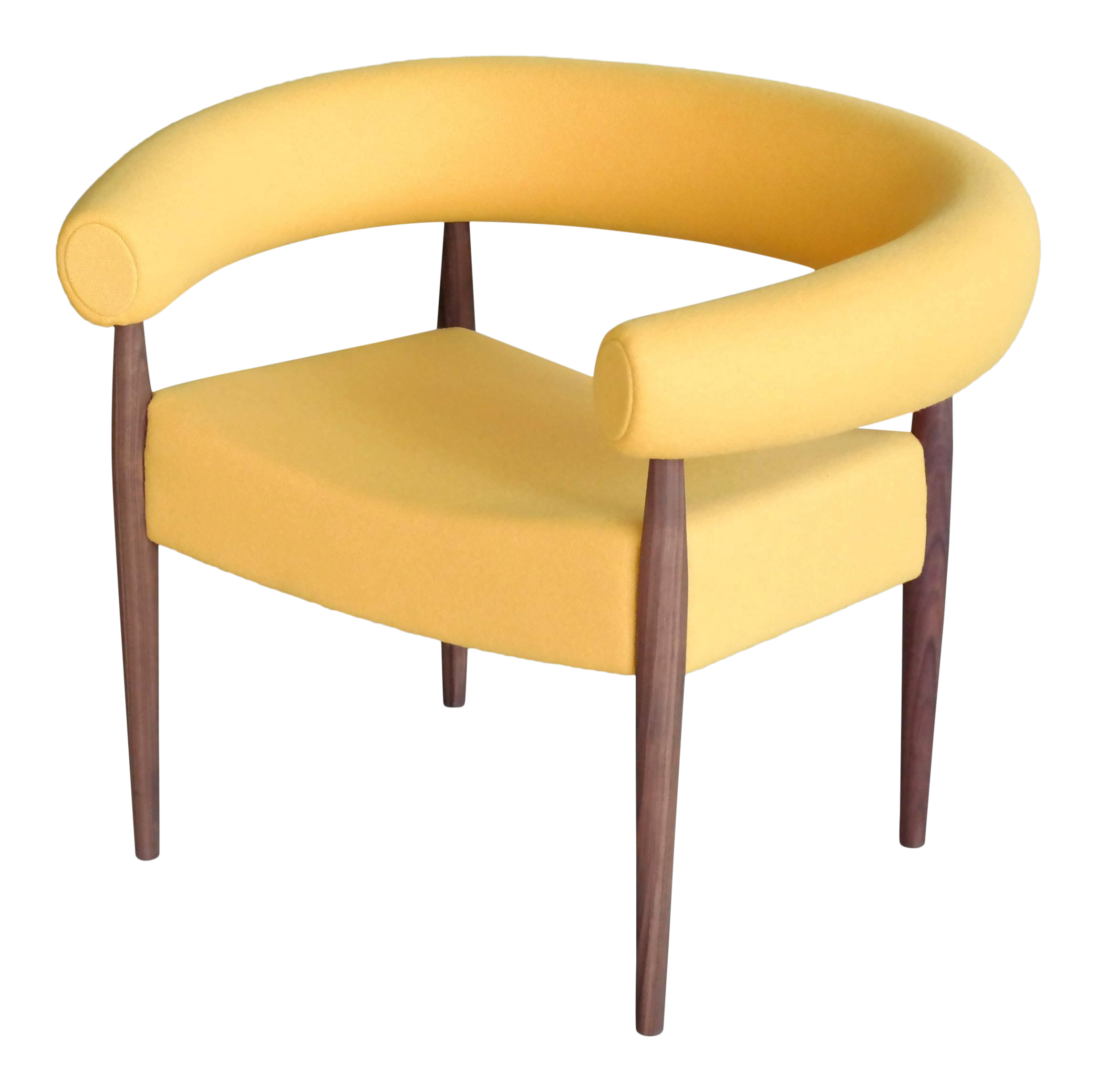 Gentil Nanna Ditzel Ring Chair In Walnut And Wool For Getama For Sale