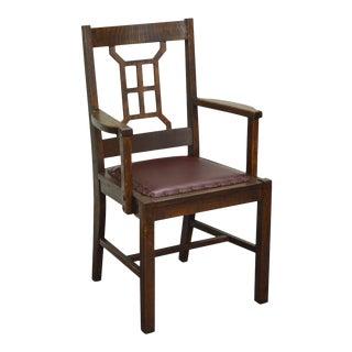 Michigan Chair Co. Antique Mission Oak Arm Chair