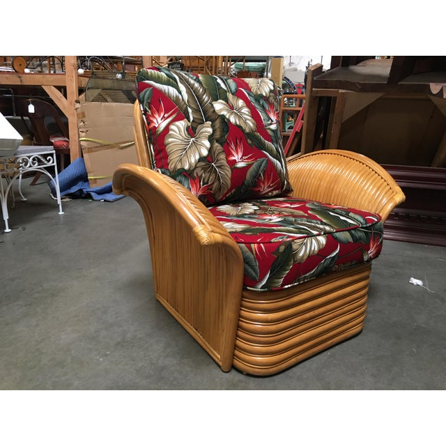Harveys Collection features the famous Mid-Century Fan Arm lounge chair with matching ottoman. The chair features...