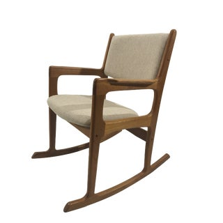 Vintage Mid Century Benny Linden Teak Rocking Chair For Sale