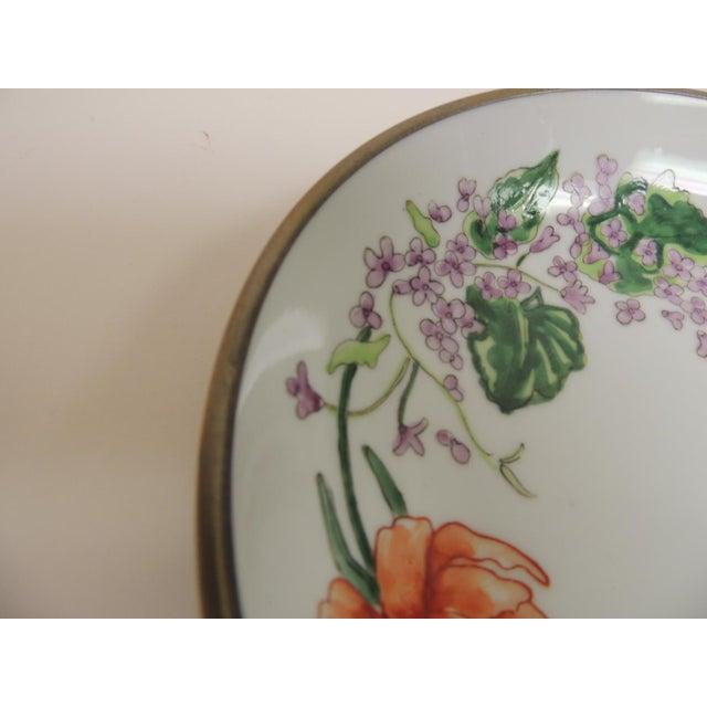 Vintage Japanese Imari Porcelain Enameled Metal Plate - Image 3 of 4