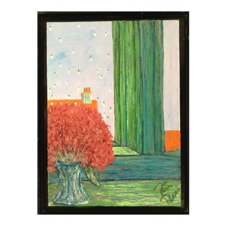 Landscape Architectural Painting on Canvas For Sale
