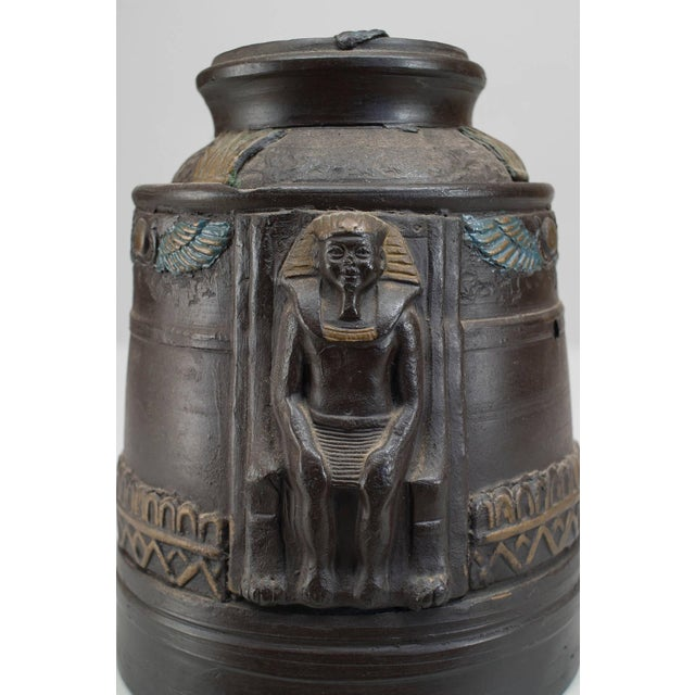 1920s Japanese Egyptian Revival Tobacco Jar For Sale - Image 4 of 7