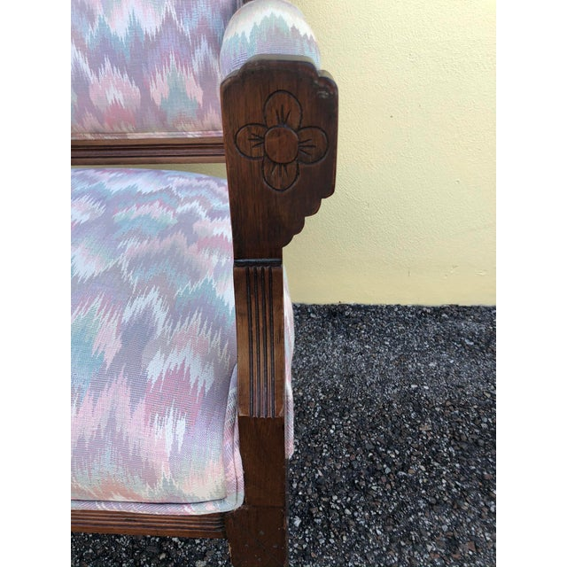 Late 19th Century Vintage Eastlake Arm Chair & Rocker- a Pair For Sale - Image 10 of 12
