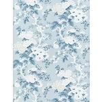 Scalamandre Ascot Floral Print, Sky Wallpaper