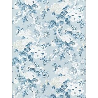 Scalamandre Ascot Floral Print, Sky Wallpaper For Sale