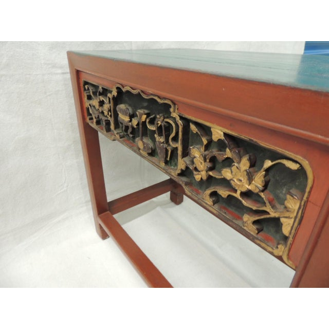 Vintage Chinese Lacquered Side Table - Image 7 of 7